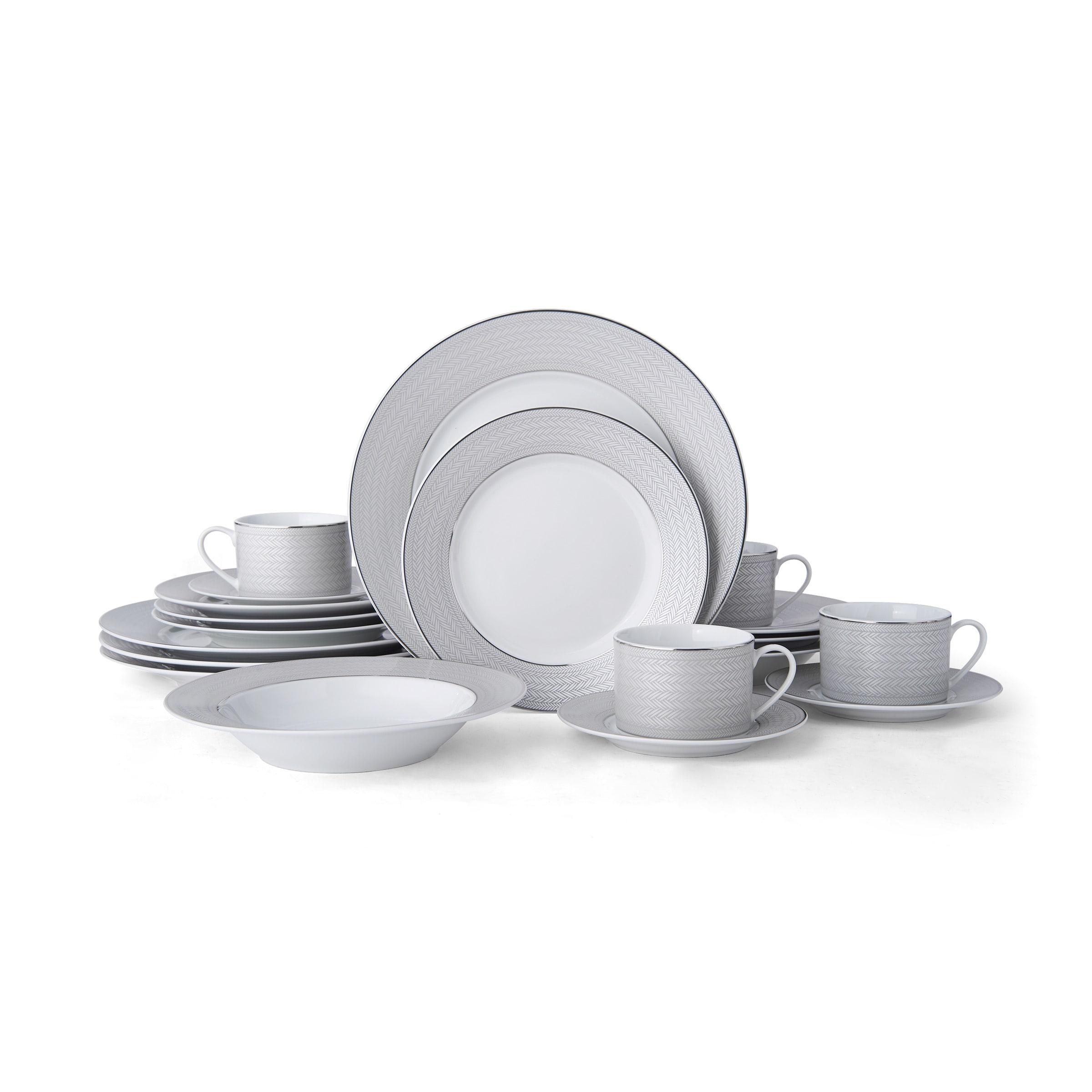 Mikasa Percy Grey 20 Piece Dinnerware Set Service For 4 Overstock 21131348