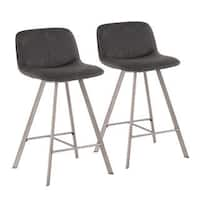 "Sedona 26"" Industrial Upholstered Counter Stool (Set of 2)"