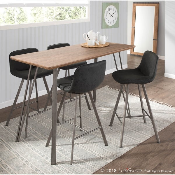 Counter Height Dining Sets On Sale: Shop Sedona 5-Piece Industrial Counter Height Dining Set
