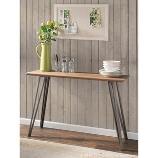 Sedona Industrial Console Table in Wood and Metal