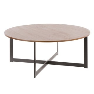 Cosmo Industrial Coffee Table in Wood and Metal