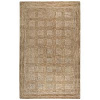 Rizzy Home Fifth Avenue Brown/Beige Wool Handmade Area - 10' x 13'