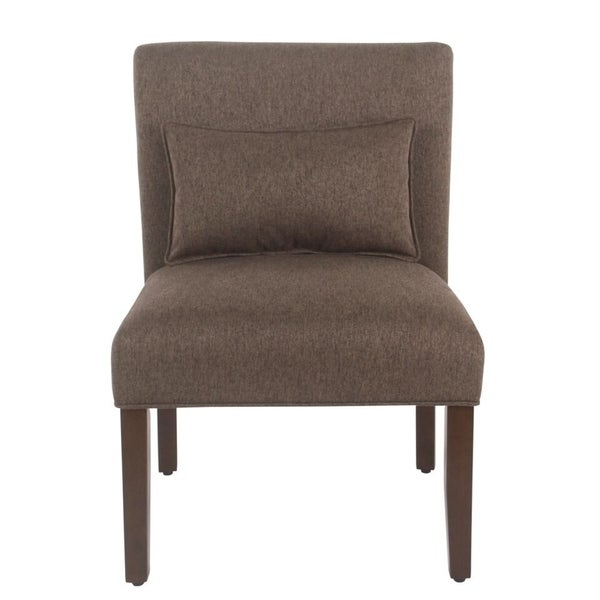Shop Homepop Brown Accent Chair With Pillow Free