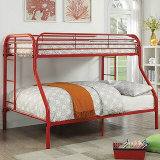 Furniture of America Braden Contemporary Twin/Full Metal Bunk Bed