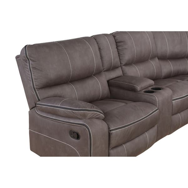Cool Shop Abbyson Roosevelt Grey Fabric 6 Piece Reclining Forskolin Free Trial Chair Design Images Forskolin Free Trialorg