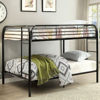 Furniture of America Braden Contemporary Full/Full Metal Bunk Bed