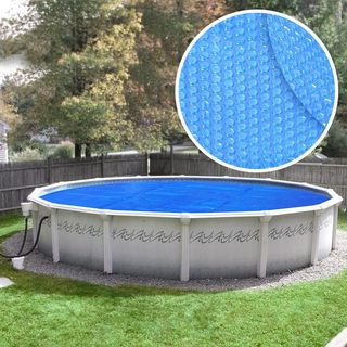 Crystal Blue Heavy-Duty Solar Cover for Above Ground Swimming Pools