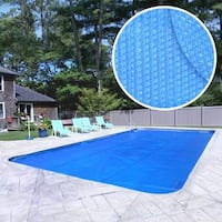 Crystal Blue Heavy-Duty Solar Cover for In-Ground Swimming Pools