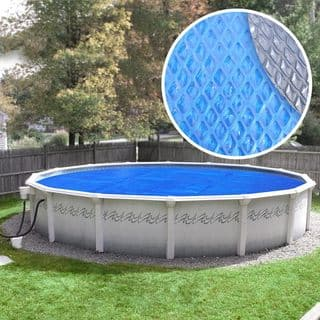 Crystal Blue Heavy-Duty Space Age Diamond Solar Cover for Above Ground Swimming Pools