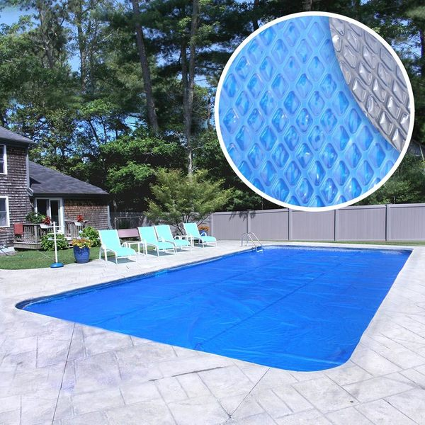 Crystal Blue Extra Heavy-Duty Space Age Diamond Solar Cover for In-Ground Swimming Pools