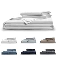 Pillow Guy Classic Cool & Crisp Cotton Percale 400 TC Duvet Set