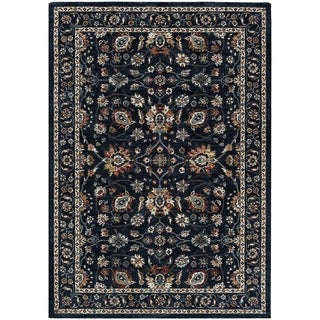 "Sovereign Floral Vase Navy Area Rug - 7'10"" x 11'2"""