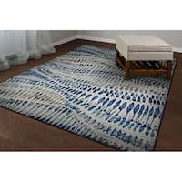 Couristan Easton Charles Bone-Blue-Multi Area Rug - 7'10 x 11'2