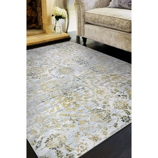 Allure Ripon Gold/Silver Area Rug - 2' x 3'