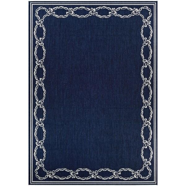 Shop Pergola Link/Ivory-Blue Indoor/Outdoor Runner Rug - 2\'3 x 11\'9 ...