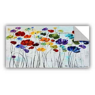ArtWall Jolina Anthony 'Lillies ' Art Appealz Removable Wall Art - 24 x 48 (As Is Item)