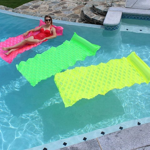 SunSplash Smart Float for Swimming Pools, Green, Yellow and Pink 3-Pack