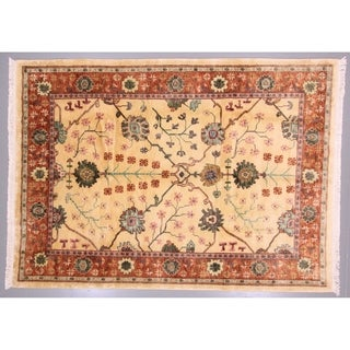 """Tebetian Wool Handwoven Rug from Nepal - 8'6"""" x 11'6"""""""