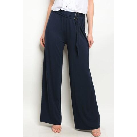 JED Women's Wide Leg Ajustable Waist Palazzo Pants