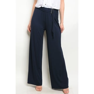 JED Women's Wide Leg Ajustable Waist Palazzo Pants