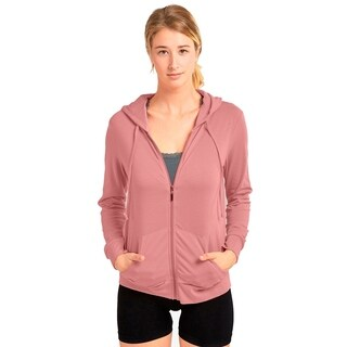Ladies Thin Zip-Up Hoodie Jacket