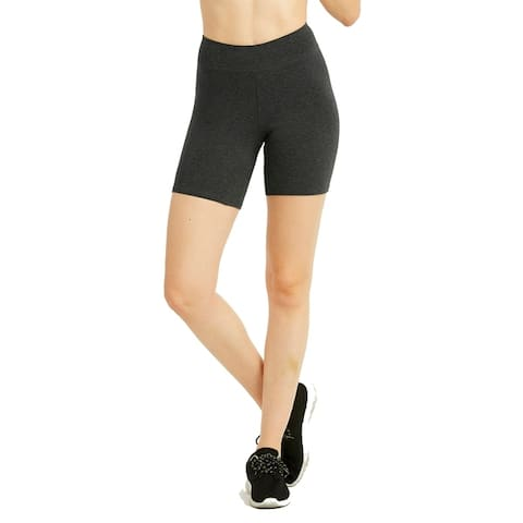"""Ladies Cotton 15"""" Outseam Shorts W/ Wide Waistband"""