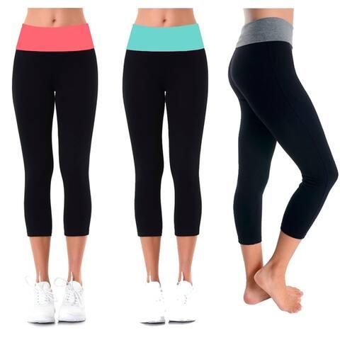 Ladies Capri Yoga Leggings