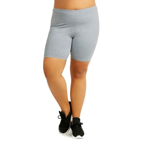 "Ladies Cotton 15"" Outseam Shorts Plus Size"