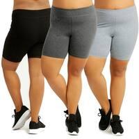 "Ladies Cotton 15"" Outseam Shorts Plus Size"