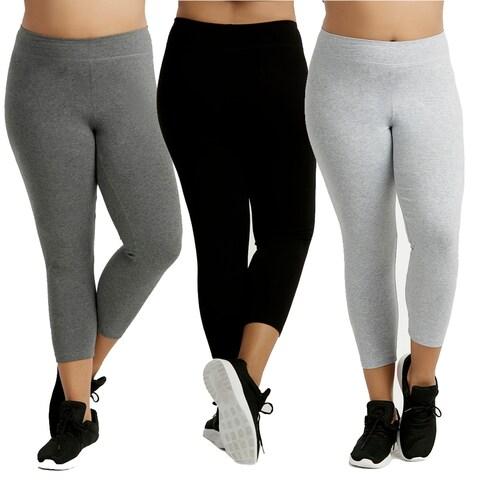 Ladies Cotton Capri Leggings Plus Size