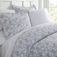 Elegant Comfort Silky Soft Cozy Coarse Paisley Pattern Duvet Cover Set