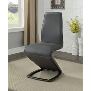 Byron Modern Gray Dining Chair (Set of 2) by FOA