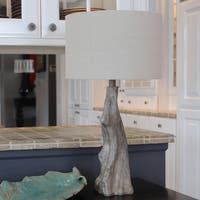 Delmare Driftwood Faux Wood Table Lamp