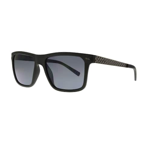 Anarchy Ronix Men's Black Frame with Polarized Mirror Lens Sunglasses - Medium