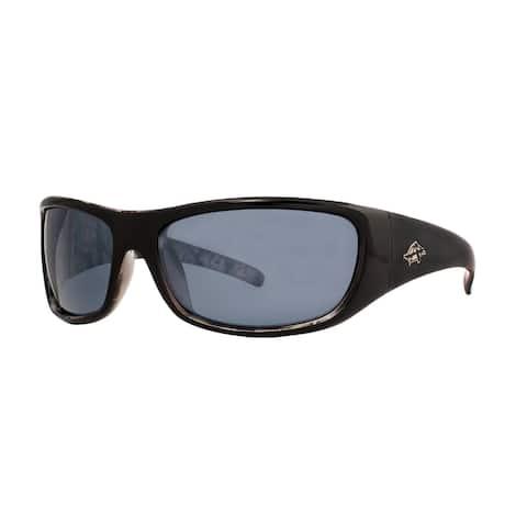 Anarchy Bruiser Mens Black Frame with Silver Mirror Polarized Lens Sunglasses - Medium