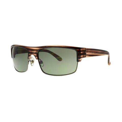 Anarchy Venuto Men's Brown Frame with Green Lens Sunglasses - Large