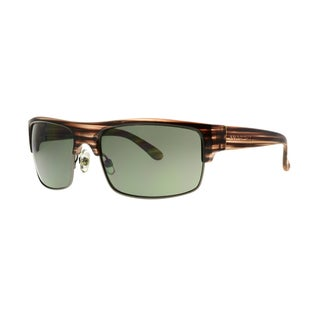 Anarchy Venuto Men's Brown Frame with Green Lens Sunglasses