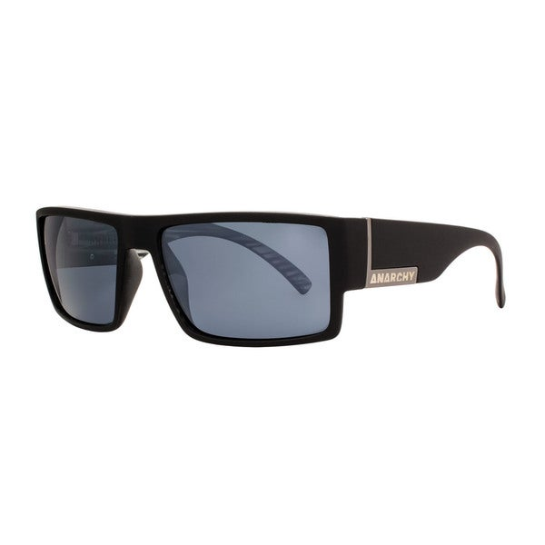 02f6af3c1d3 Anarchy Argh Mens Black Frame with Silver Mirror Polarized Lens Sunglasses  - Free Shipping On Orders Over  45 - Overstock - 26911789