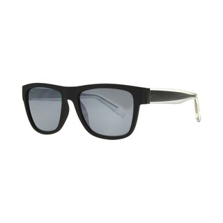 Anarchy Omen Mens Black Frame with Silver Mirror Polarized Lens Sunglasses - Large
