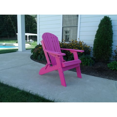 Folding Adirondack Chair w/ Cup Holder and Smart Phone Holder
