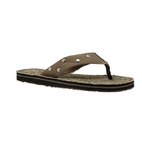 37ccd4473af9 Shop Men s Thong Sandal Olive - Free Shipping On Orders Over  45 ...