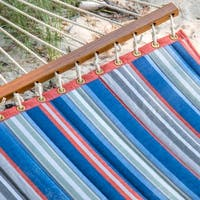 Key West Quilted Blue Striped Hammock