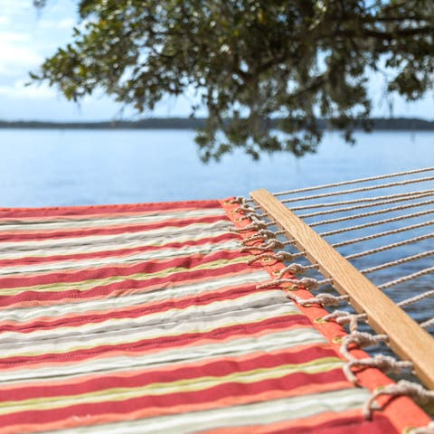 Key West Quilted Red Striped Hammock