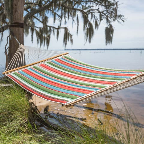 Key West Quilted Multicolor Striped Hammock