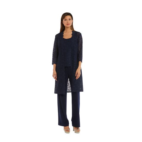RM Richards 1993 Navy 3 Piece Pant Set