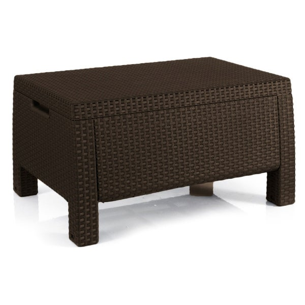 Shop Keter Bahamas Outdoor All Weather Patio Storage Coffee Table
