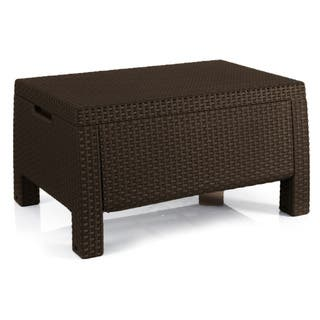 Keter Bahamas Outdoor All Weather Patio Storage Coffee Table