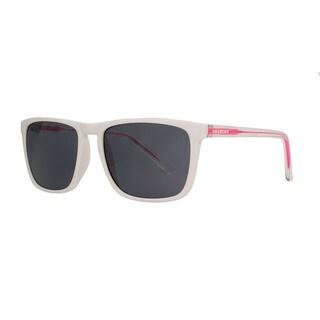 Anarchy Ricochet White Frame with Smoke Lens Sunglasses