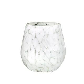 Carmen Marble Stemless Wine Glass, Set of 4, 16 oz