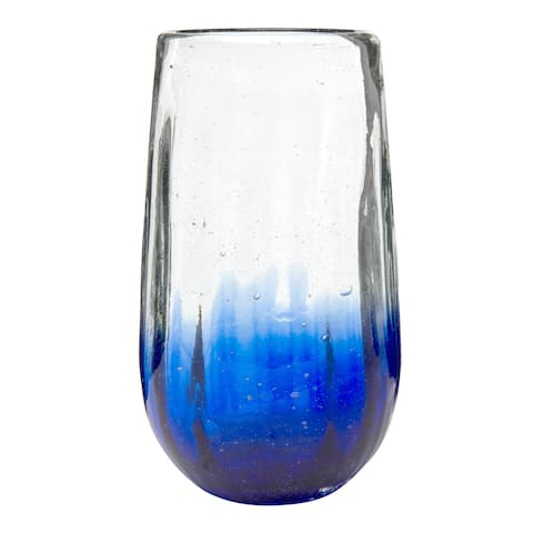 Rosa Hiball Glass Cobalt, Set of 6, 20 oz
